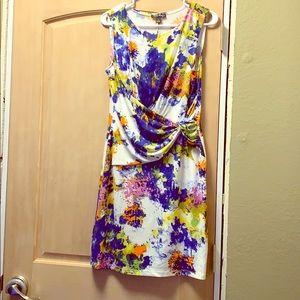Short sleeves paint splash dress